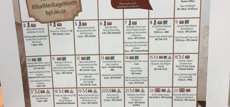 Burlington Heritage Month 2019