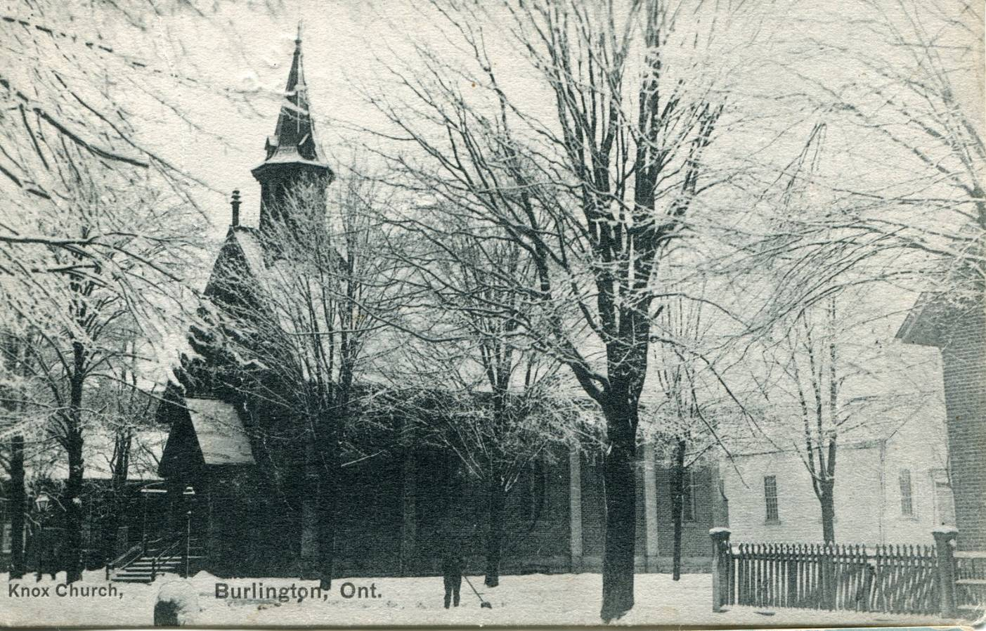 Knox Church, winter, circa 1906